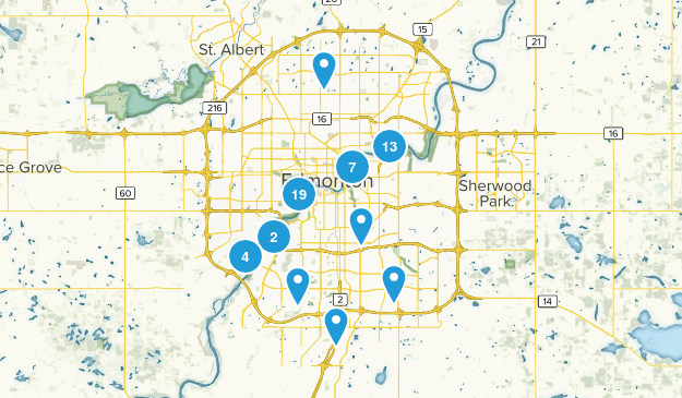 Edmonton, Alberta Kid Friendly Map
