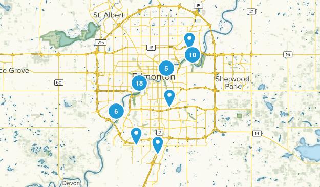 Edmonton, Alberta River Map