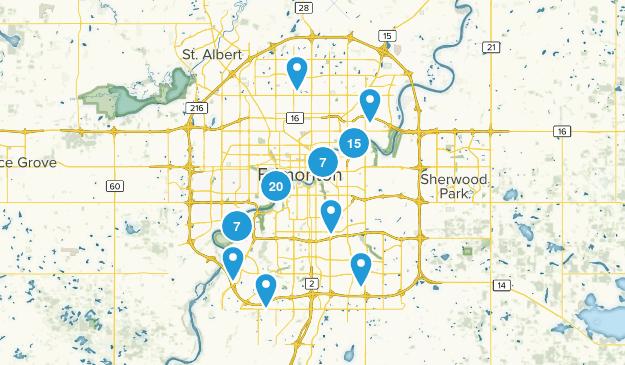 Edmonton, Alberta Walking Map