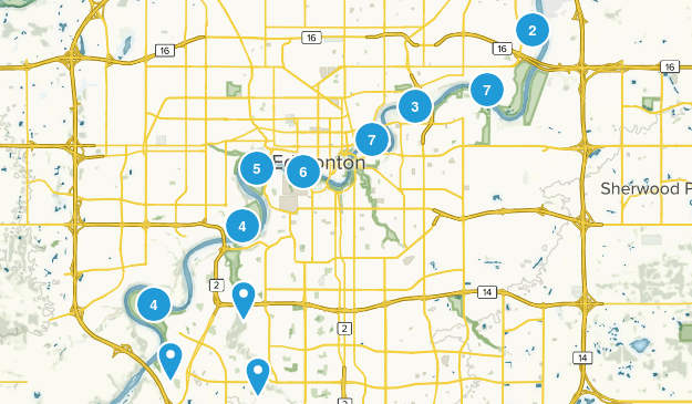 Edmonton, Alberta Wildlife Map