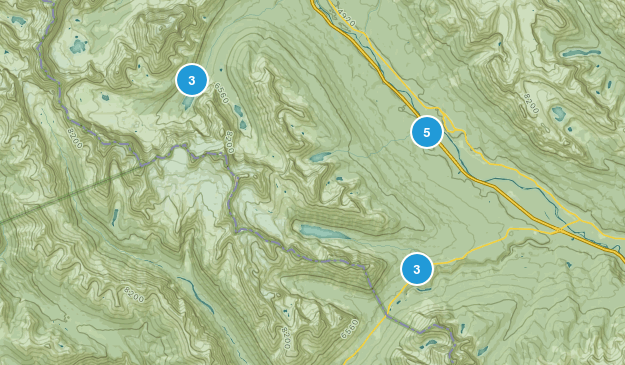 Eldon, Alberta Lake Map