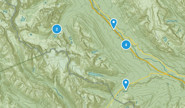 Eldon, Alberta Nature Trips Map