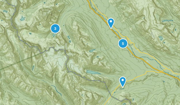 Eldon, Alberta Walking Map