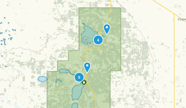 Improvement District No. 13 , Alberta Walking Map