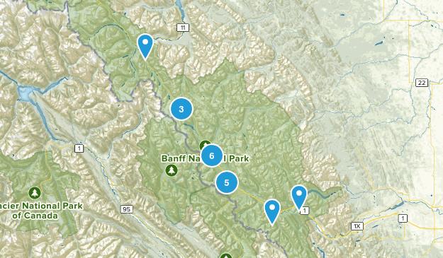 Improvement District No. 9, Alberta Hiking Map