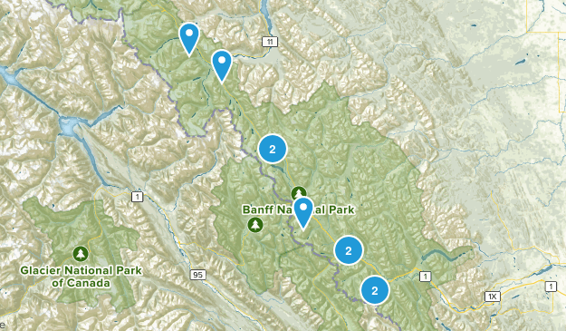Improvement District No. 9, Alberta Trail Running Map