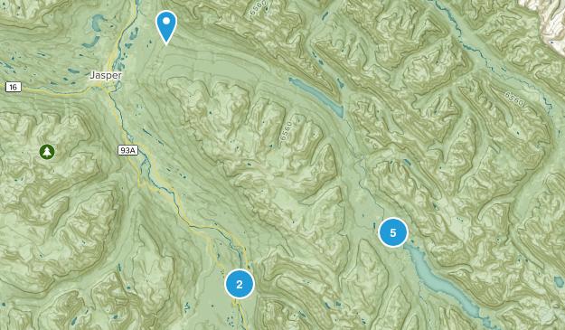 Jasper Park Lodge, Alberta Hiking Map