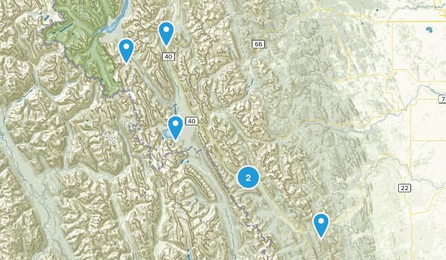 Kananaskis Improvement District, Alberta No Dogs Map