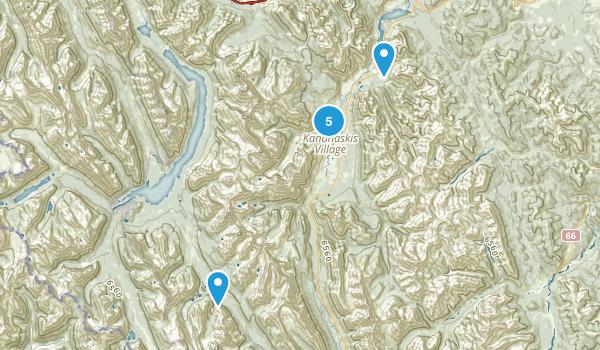Kananaskis Village, Alberta Walking Map