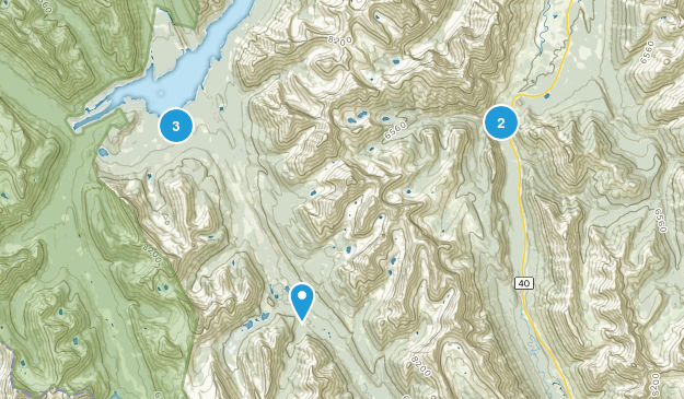 Kovach, Alberta Camping Map