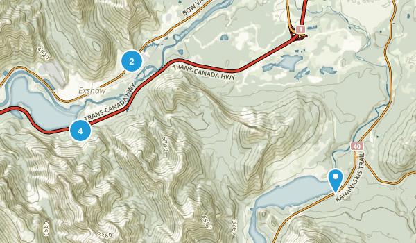 Lac des Arcs, Alberta Forest Map