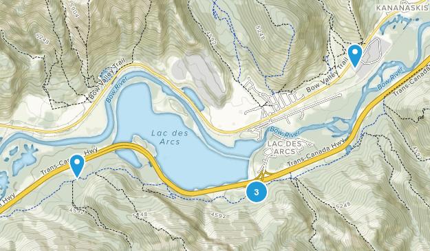 Lac des Arcs, Alberta River Map