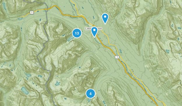 Lake Louise, Alberta Birding Map