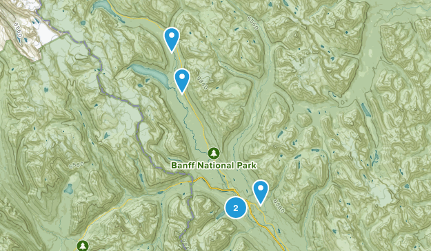 Lake Louise, Alberta Camping Map