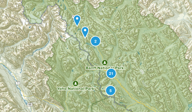 Lake Louise, Alberta Forest Map