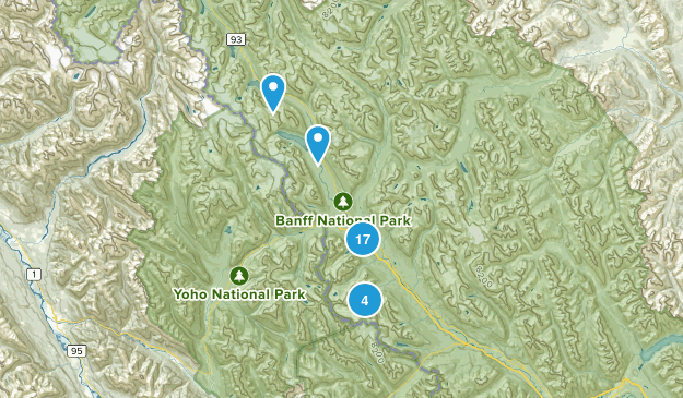 Lake Louise, Alberta Lake Map