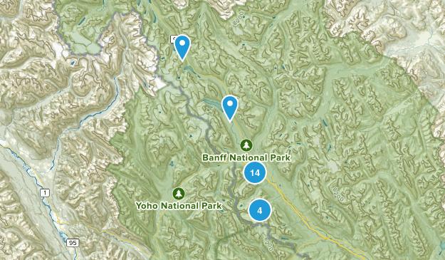 Lake Louise, Alberta Nature Trips Map
