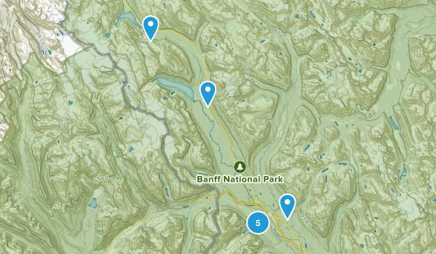 Lake Louise, Alberta River Map