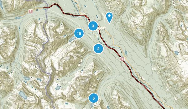 Lake Louise, Alberta Walking Map