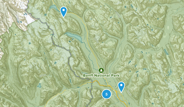 Lake Louise, Alberta Waterfall Map