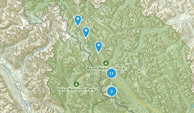 Lake Louise, Alberta Wildlife Map