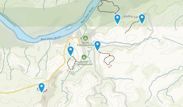 Princess, Alberta Hiking Map