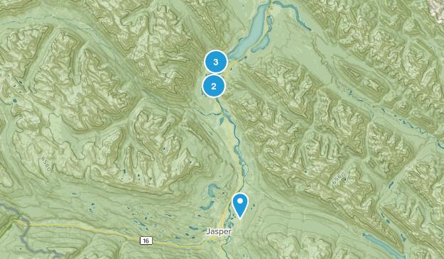 Snaring, Alberta Hiking Map