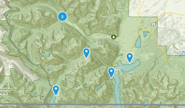 Waterton, Alberta Camping Map