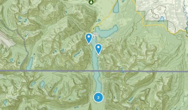 Waterton Park, Alberta Camping Map