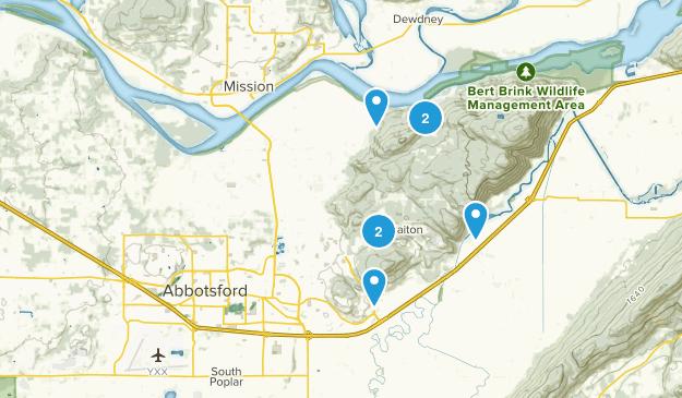 Abbotsford, British Columbia Hiking Map