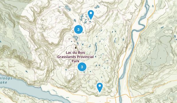 Brocklehurst, British Columbia Hiking Map