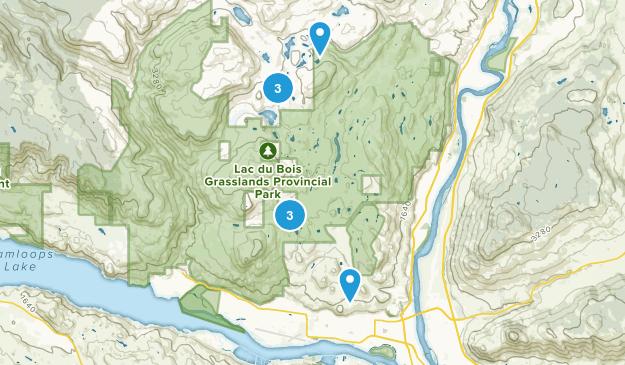 Brocklehurst, British Columbia Nature Trips Map