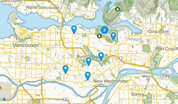 Burnaby, British Columbia Kid Friendly Map