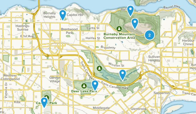Burnaby, British Columbia Views Map