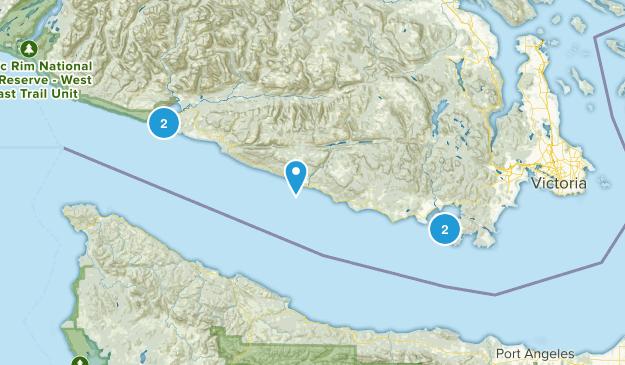 Capital, British Columbia Beach Map