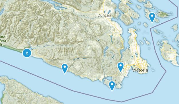 Capital, British Columbia Dogs On Leash Map
