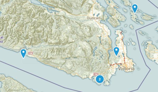 Capital, British Columbia Trail Running Map