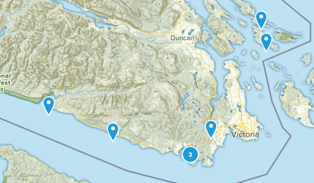 Capital, British Columbia Views Map
