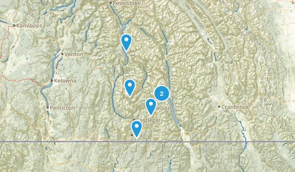 Central Kootenay, British Columbia Walking Map