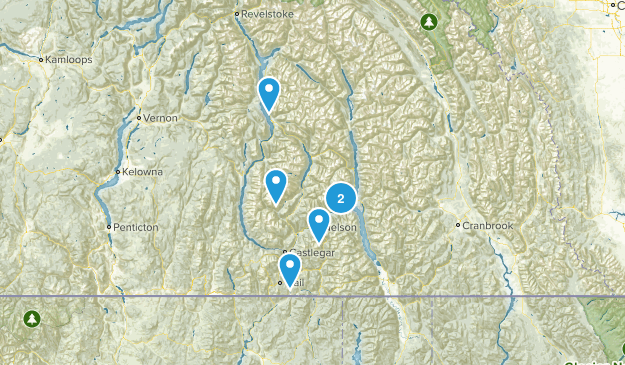 Central Kootenay, British Columbia Walking Map
