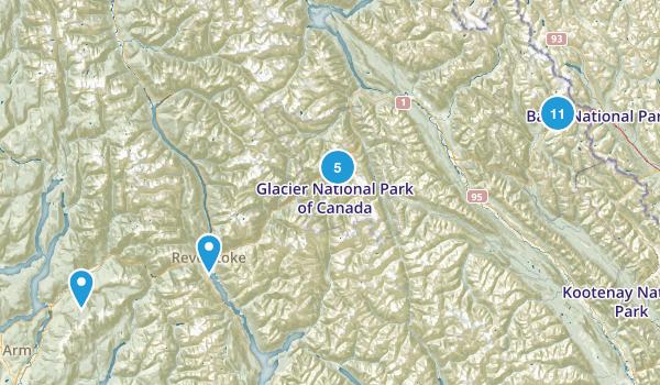 Columbia-Shuswap, British Columbia Dogs On Leash Map