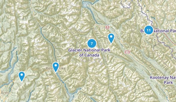 Columbia-Shuswap, British Columbia Hiking Map