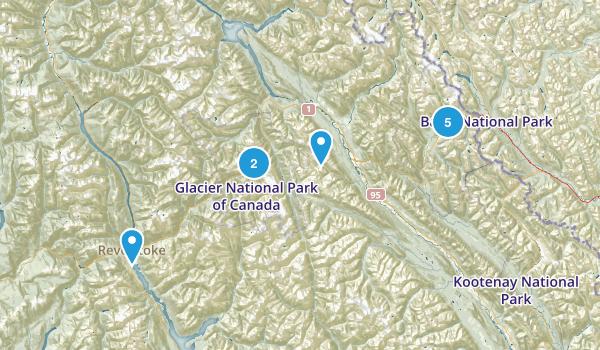 Columbia-Shuswap, British Columbia Trail Running Map