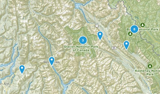 Columbia-Shuswap, British Columbia Views Map