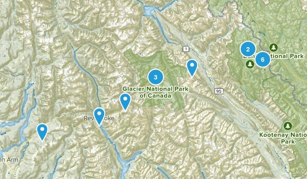 Columbia-Shuswap, British Columbia Walking Map