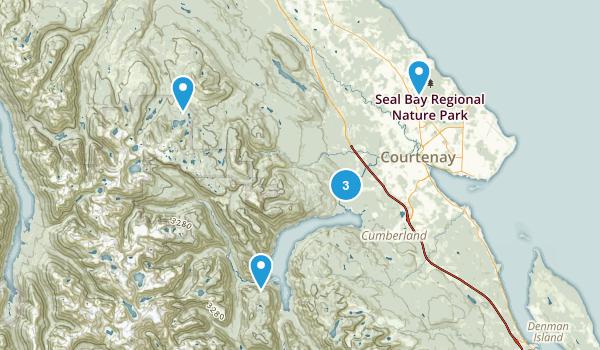 Comox Valley, British Columbia Trail Running Map