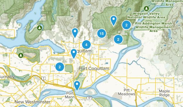 Coquitlam, British Columbia Birding Map