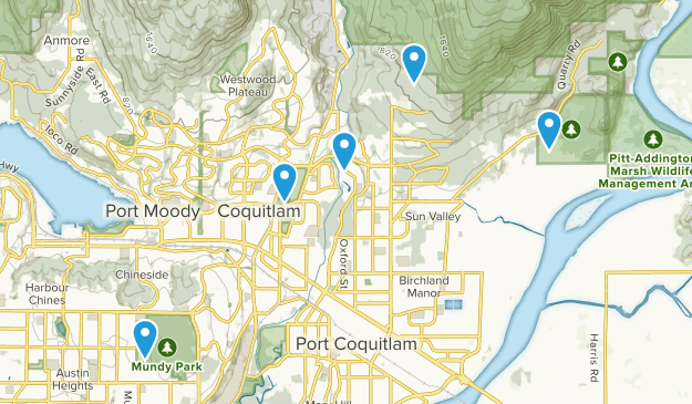Coquitlam, British Columbia Dog Friendly Map