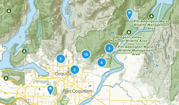 Coquitlam, British Columbia Forest Map