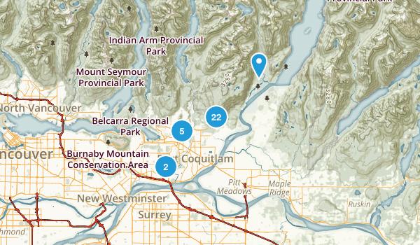 Coquitlam, British Columbia Hiking Map